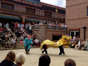 Lion Dance for Open Day at Samye Ling Buddhist Temple